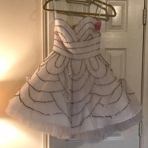 Jovani White Cocktail Dress